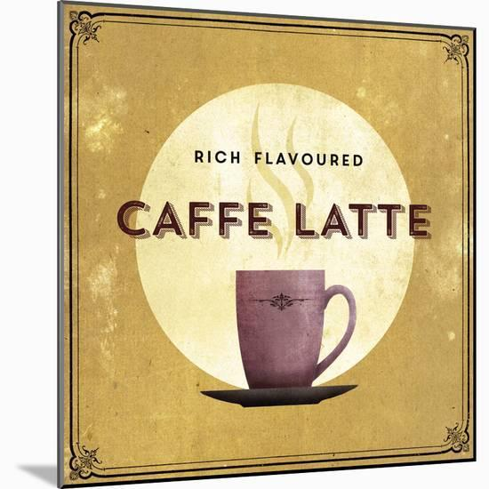 Finest Coffee - Latte-Hens Teeth-Mounted Print