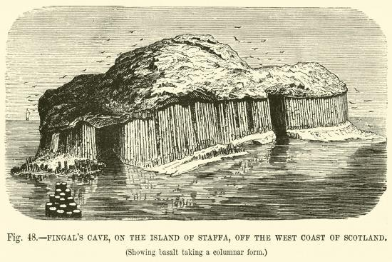 Fingal's Cave, on the Island of Staffa, Off the West Coast of Scotland--Giclee Print