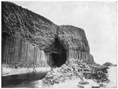 Fingal's Cave, Scotland, Late 19th Century-John L Stoddard-Giclee Print