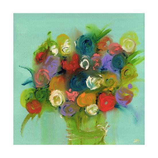 Finger Painting Blue-Amber Berninger-Art Print