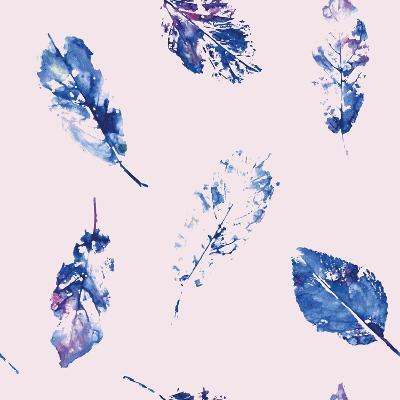 Fingerprint Pattern from Leaves Painted in Watercolor-molokot-Art Print