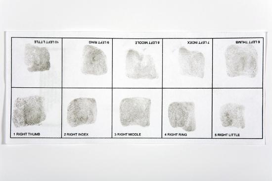 Fingerprint Record Card-Victor De Schwanberg-Photographic Print