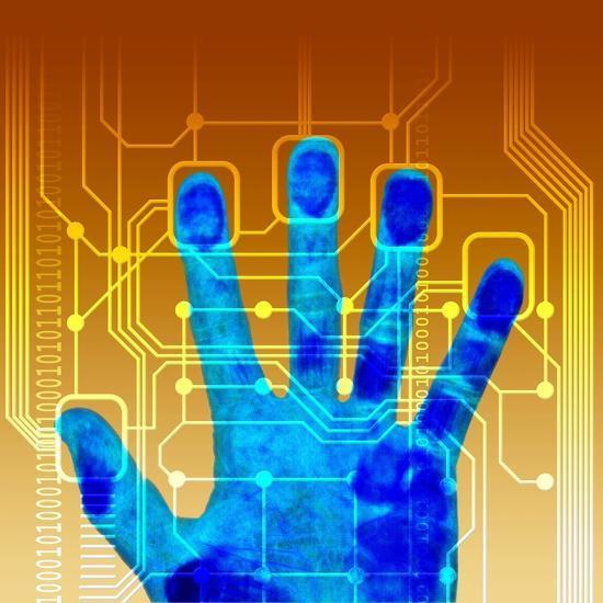 Fingerprint Scanner, Artwork-PASIEKA-Photographic Print