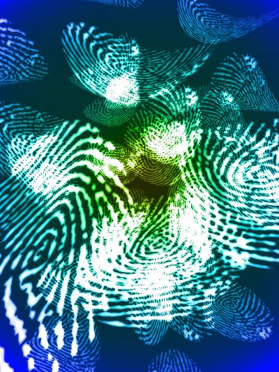 Fingerprints, Computer Artwork-Christian Darkin-Photographic Print