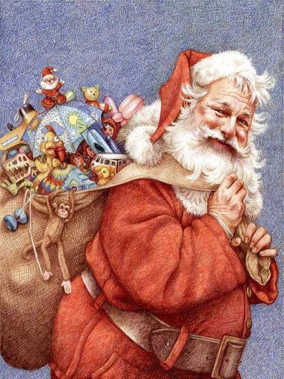Finished Santa-Anne Yvonne Gilbert-Giclee Print