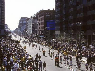 Finishers on Boyleston Street at the 1990 Boston Marathon--Photographic Print