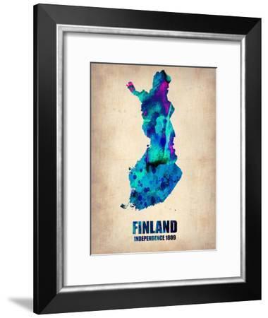 Finland Watercolor Poster-NaxArt-Framed Art Print