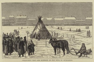 Finlander's Tent and Reindeer on the Neva, St Petersburg--Giclee Print