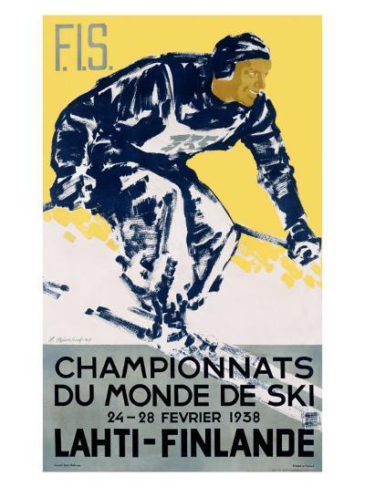 Finnish Snow Ski Championship--Giclee Print
