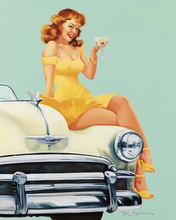 Vintage Pin-Up Just Right Joyce Ballantyne PINUP422 Art Print A4 A3 A2 A1