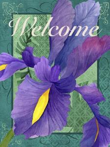 Framed Iris by Fiona Stokes-Gilbert