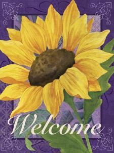 Framed Sunflower by Fiona Stokes-Gilbert