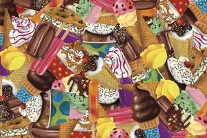 Ice Cream Collage by Fiona Stokes-Gilbert