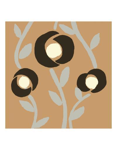 Fiori Apricot-Denise Duplock-Art Print