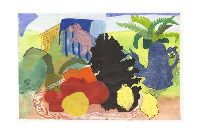 Fir Cone and Parrot-Hugh Bulley-Giclee Print