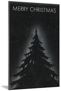 Fir Tree on Starry Night