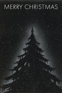 Fir Tree on Starry Night