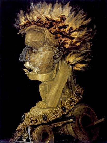 Fire, 1566-Giuseppe Arcimboldi-Giclee Print