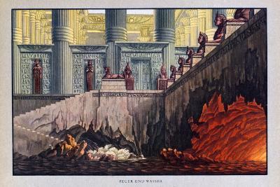Fire and Water, the Magic Flute, 1816-Karl Friedrich Schinkel-Giclee Print