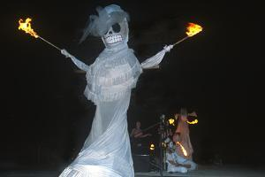 Fire Artists Flam Chen, Day of the Dead, Tucson, Arizona