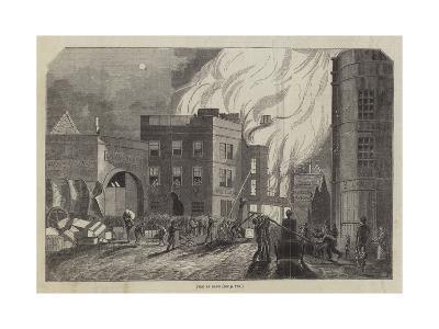 Fire at Bath--Giclee Print