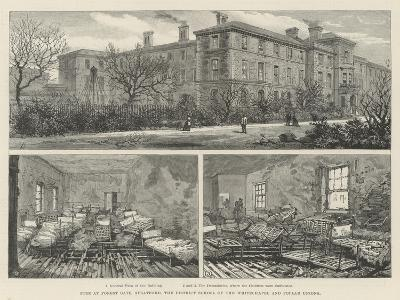 Fire at Forest Gate, Stratford, the District School of the Whitechapel and Poplar Unions--Giclee Print