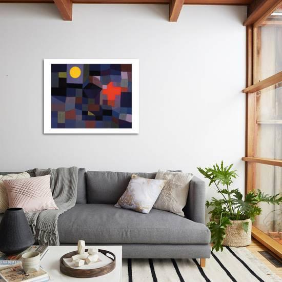 Fire At Full Moon 1933 Art Print Paul Klee Art Com