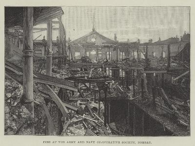 Fire at the Army and Navy Co-Operative Society, Bombay--Giclee Print