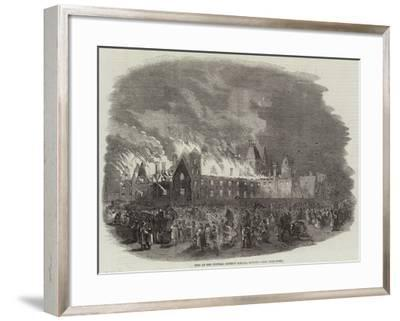 Fire at the Central District Schools, Sutton--Framed Giclee Print