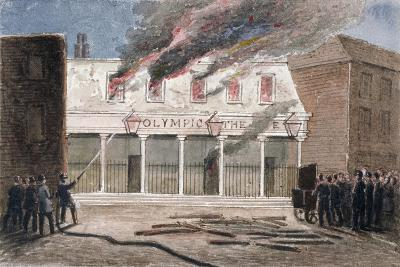 Fire at the Olympic Theatre, Wych Street, Westminster, London, 1849-J Maund-Giclee Print