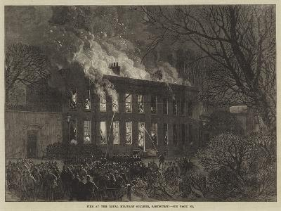 Fire at the Royal Military College, Sandhurst--Giclee Print