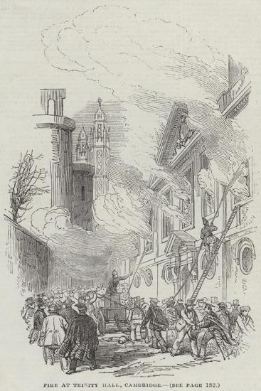 Fire at Trinity Hall, Cambridge--Giclee Print