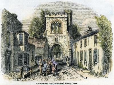 Fire-Bell Gate (And Curfe), Barking, Essex, 1845--Giclee Print