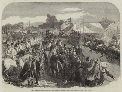 Fire Brigade Demonstration and Public Fete at Leighton Buzzard--Giclee Print