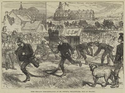 Fire Brigade Demonstration at St Peter'S, Broadstairs, Isle of Thanet--Giclee Print