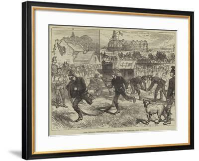 Fire Brigade Demonstration at St Peter'S, Broadstairs, Isle of Thanet--Framed Giclee Print