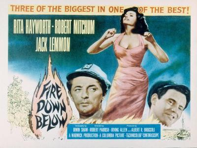 Fire Down Below, Robert Mitchum, Rita Hayworth, Jack Lemmon, 1957--Photo