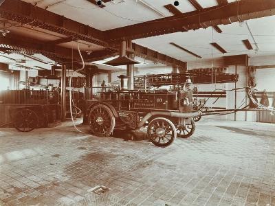 Fire Engine at Cannon Street Fire Station, Cannon Street, City of London, 1907--Photographic Print