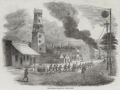 Fire-Engine at Cincinnati, United States--Giclee Print