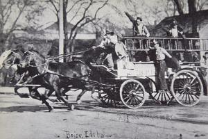 Fire Engine, Boise, Idaho, at the Turn of the Century