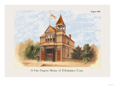 Fire Engine House at Moderate Cost--Art Print