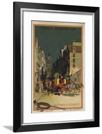 Fire Engine--Framed Giclee Print