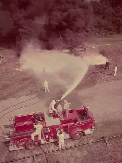 Fire Engines, Elmira, New York-Cornell Capa-Photographic Print