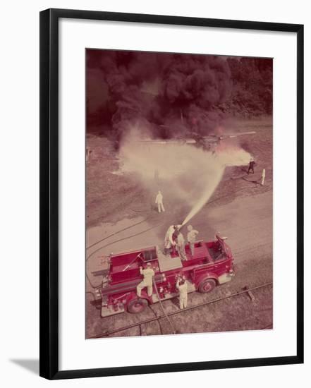 Fire Engines, Elmira, New York-Cornell Capa-Framed Photographic Print