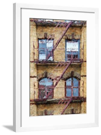 Fire Escape II - In the Style of Oil Painting-Philippe Hugonnard-Framed Giclee Print