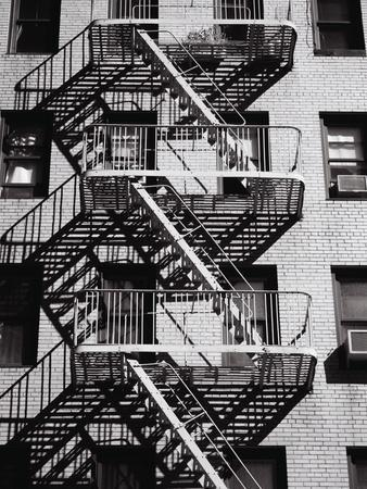 Fire Escape on Apartment Building-Henry Horenstein-Premium Photographic Print
