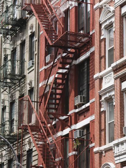 Fire Escapes, Chinatown, Manhattan, New York, United States of America, North America-Martin Child-Photographic Print