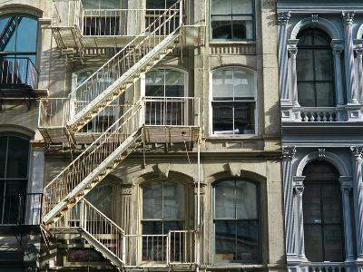Fire Escapes on Buildings in Soho-Kike Calvo-Premium Photographic Print