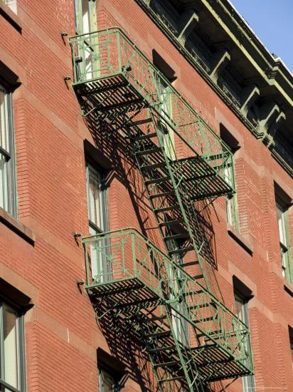 Fire Escapes on the Outside of Buildings in Spring Street, Soho, Manhattan, New York, USA-Robert Harding-Photographic Print
