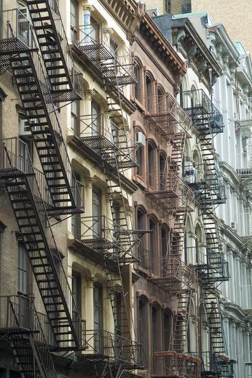 Fire Escapes, Tribeca, New York City, Ny, Usa-Natalie Tepper-Photo